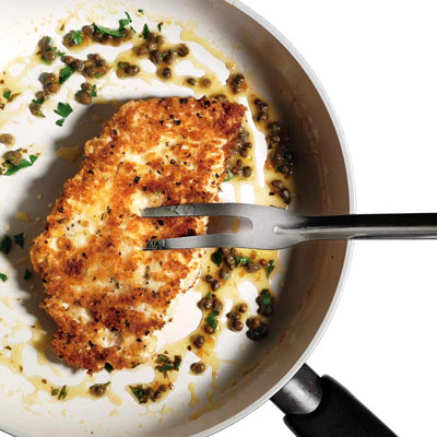 Crispy Parmesan Chicken with Mustard Sauce