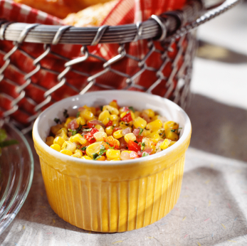 Grilled Corn Salad with Cherry Tomato & Cilantro Vinaigrette