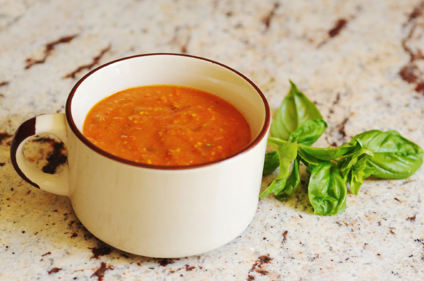 Hearty Tomato Soup with Basil
