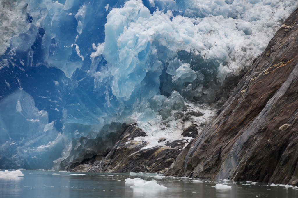 Calving of South Sawyer Glacier, Mother Nature at Her Best